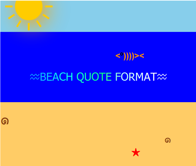 quote formats